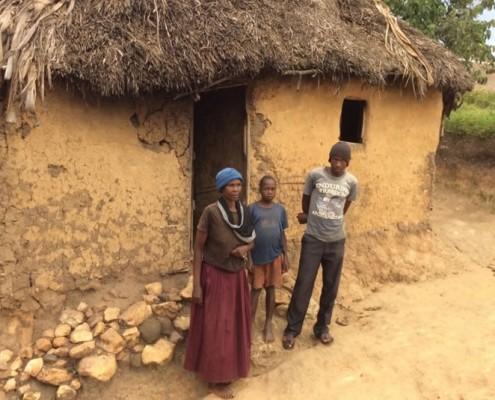 A widows house in Nabumali
