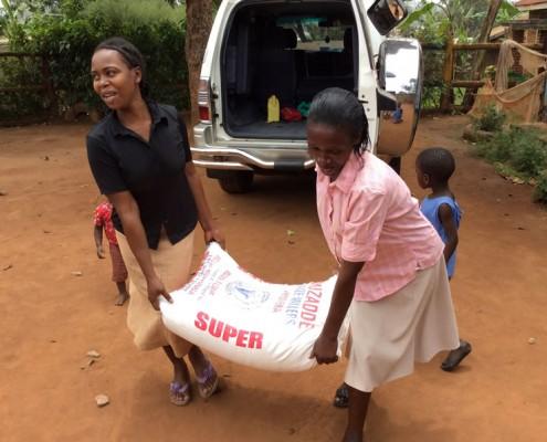 Jane supplying food to the school