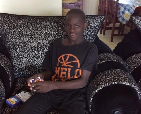 Timothy at home in Kampala