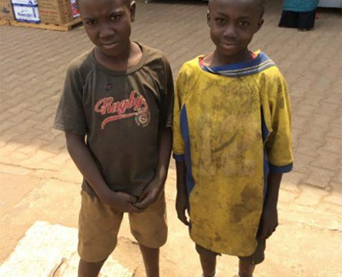 Yusif and Brian the new street children