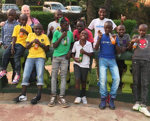 Street children at KK Beach