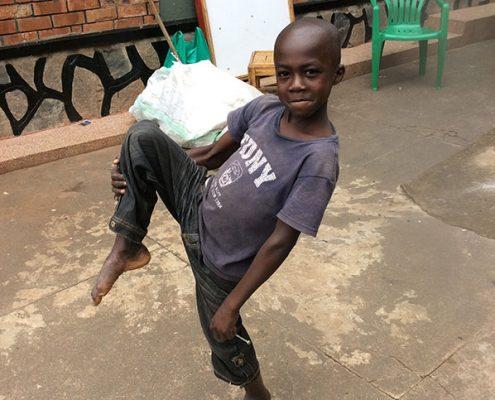Yusuf, one of the street children