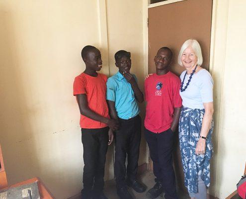 Jane and three of the street children