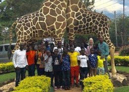Street children visit Entebbe zoo