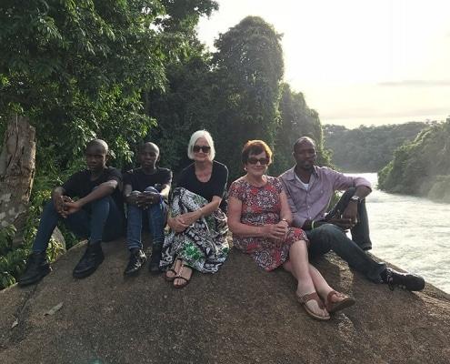 Our team at Kalagala Falls
