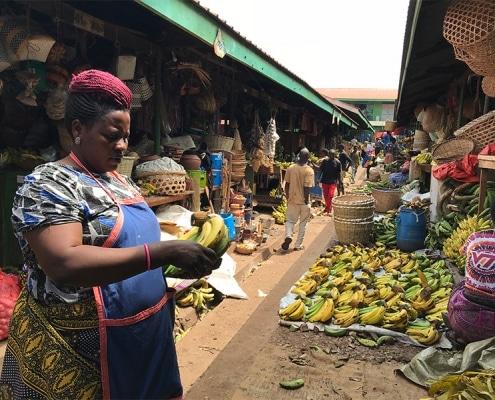 A street market in Uganda