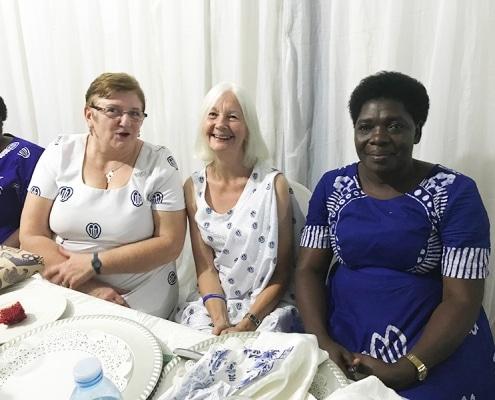 Enjoying Lynne's visit in Uganda