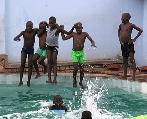 Street boys having fun