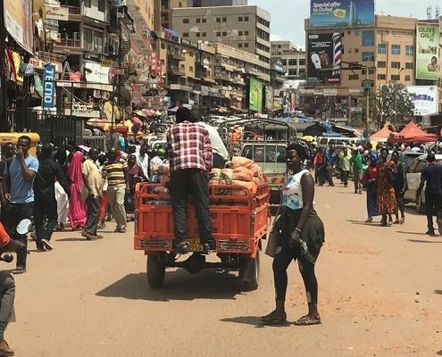 A street scene in Kampala
