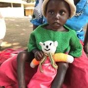 A Ugandan child at the hospital