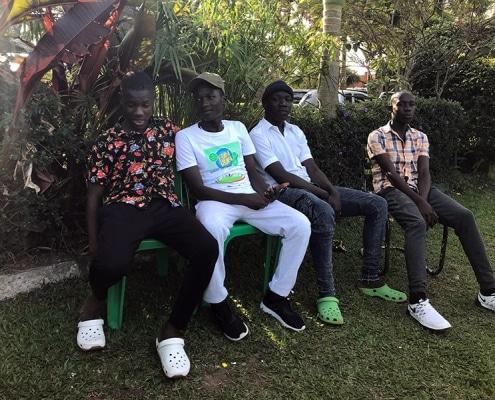 Four street boys in Kampala