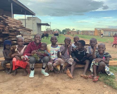 A group of Ugandan children