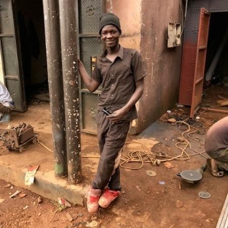 Former street child now working
