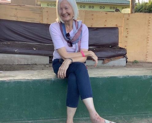 Jane relaxing at KK Beach