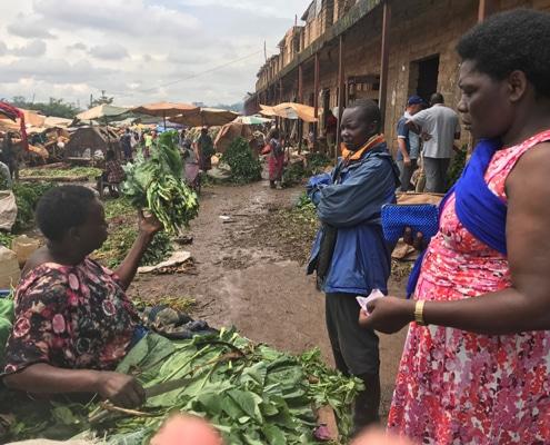 Buying vegetables in Uganda