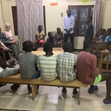 Street children introducing themselves