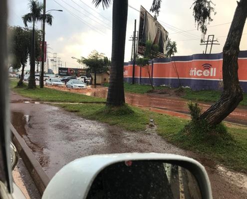 Ugandan traffic and flooding