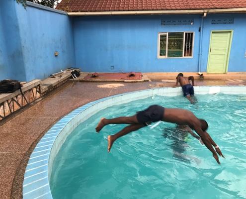 Teaching street children how to swim