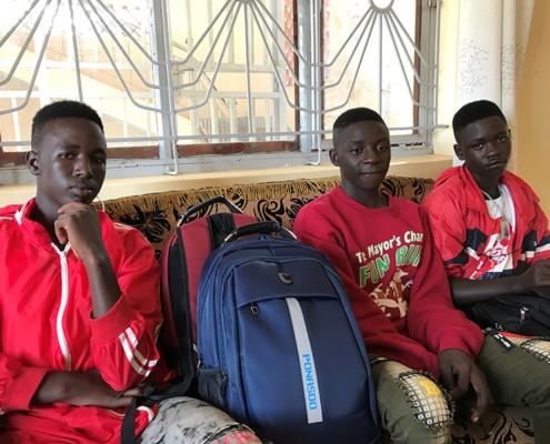 Three of our street children