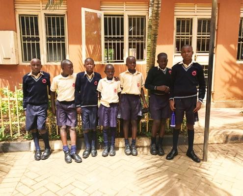 Former street boys in school