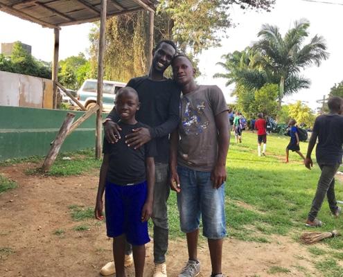 Tresor with two street boys