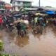 Flooded Ggaba market in Uganda