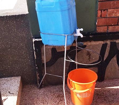 Hand sanitation in Uganda