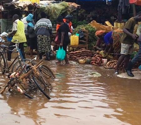 Flooded Ggaba market