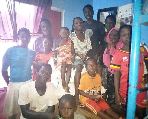 Donated food delivered to Kisenyi