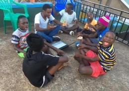 Street children with Shadrach