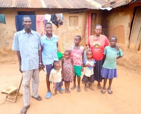 A Ugandan family we donate to