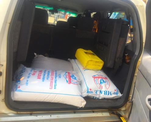 Donated food for Ugandan's