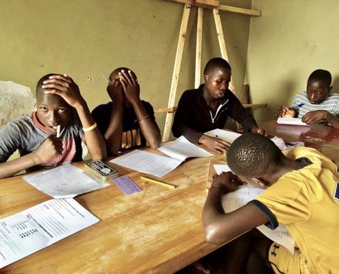 Home schooling tests for street children