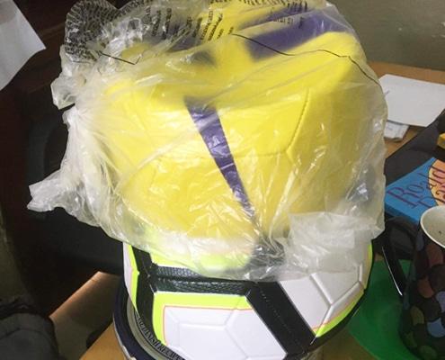 Donated footballs arrive in Uganda