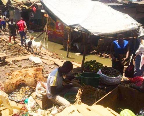 Flooding in Ggaba market, Uganda