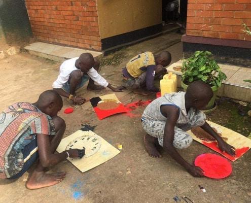 Fomer street children painting