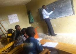 Former street children in class
