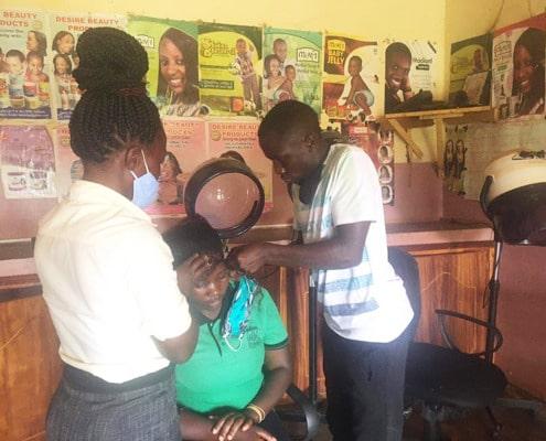 Shaffick's hairdressing skills test