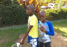 Two former street children in Uganda