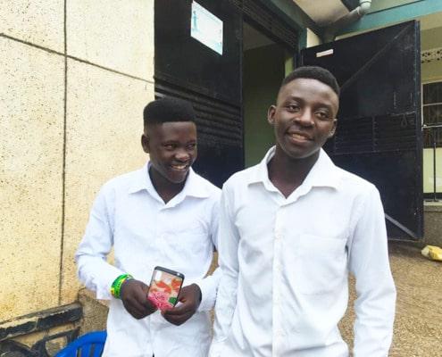 Two Ugandan boys returning to college
