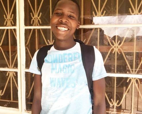 Kodet visting his family in Uganda