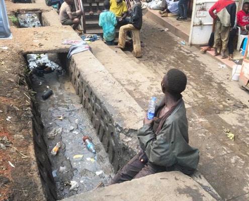 Visiting street children in Kampala