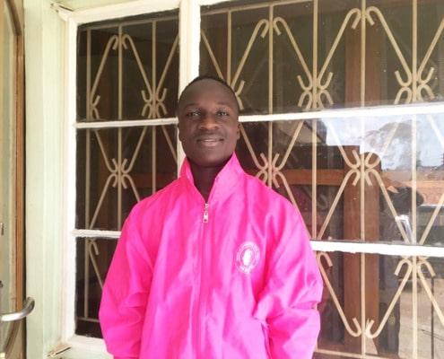 Haruna, one of our former street boys
