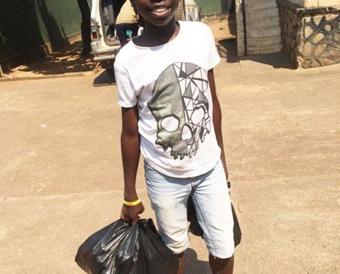 Saviour, a former Ugandan street child