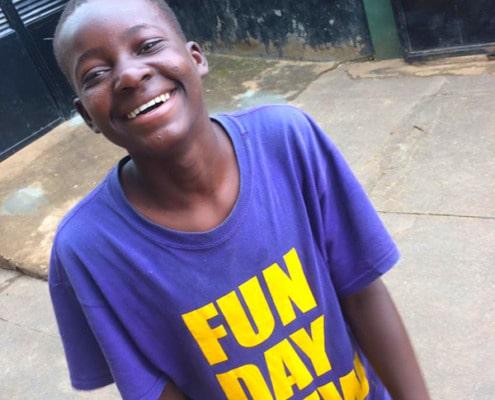 Happy street child