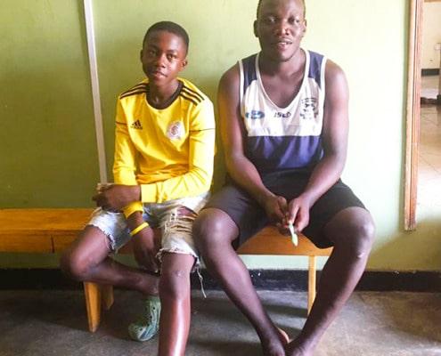 Two former street boys