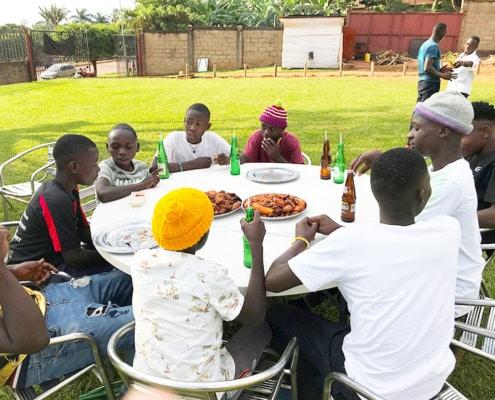Former street children taken out for lunch