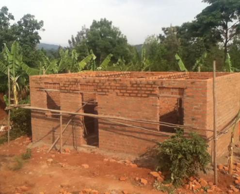 A widows new house under construction