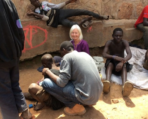 Jane at street boys project