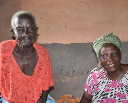 Mother and daughter in home built by charity